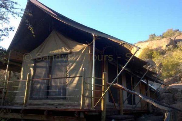 Das Ngepi camp im Caprivi Streifen