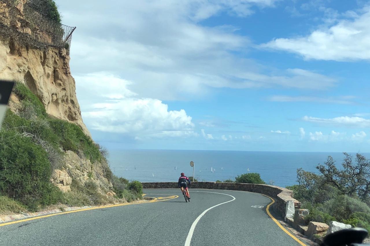 Chapmans Peak eine abenteuerliche Küstenstrasse in Südafrika