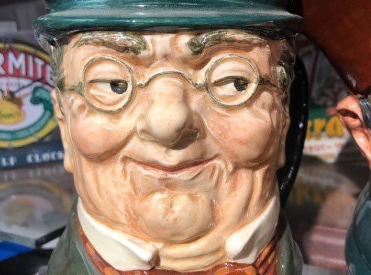 Lustige Figur bei Oom Samie Se Winkel in Stellenbosch