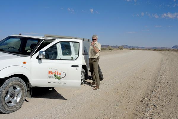 Mit einem Mietwagen von Britz unterwegs - car rental namibia