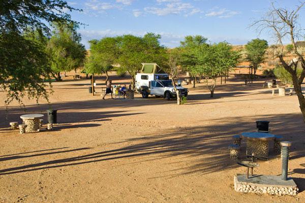 Das camp im kgaladi erlaubt auch camping