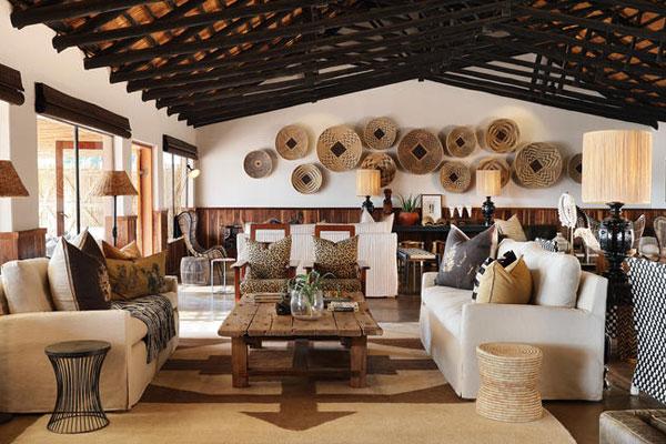 Afrikanischer Dining Room in der Malamala lodge