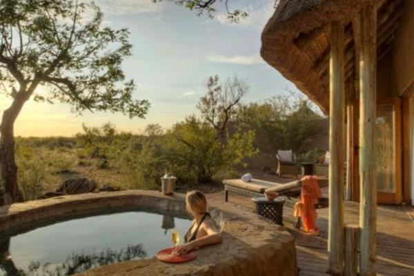 Traumhafte Unterkunft mit Pool in der Rhulani Lodge