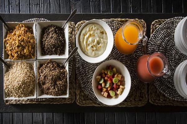 Gourmet Tafel in der Simbavati River Lodge