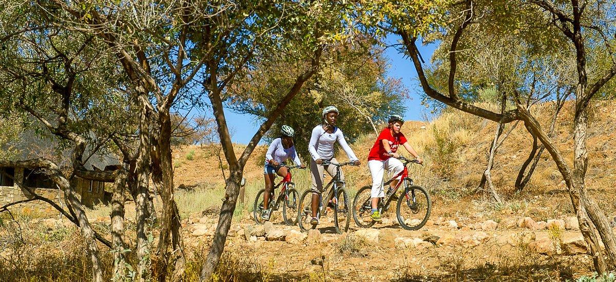 Etosha Nationalpark mit dem Fahrrad